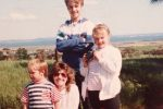 Me - with my two brothers, and my Mum - camera in hand. Early beginnings!